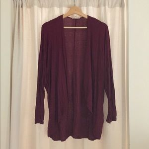 Painted threads lightweight cardigan in maroon